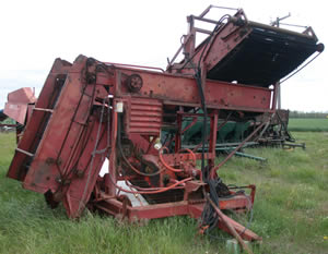 2 Row Hesston Potato Harvester