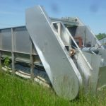 Stainless Feed Hopper 20 ft x 4 ft wide