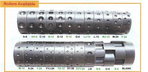 JPH-U Seeder Roller sizes