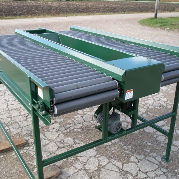 dual roller sorting table